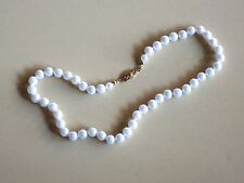 """16"""" Single Strand of White Pearls Necklace"""