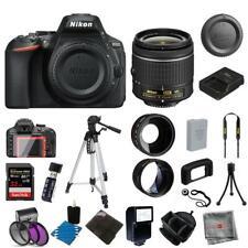 Nikon D5600 Digital SLR Camera with 3 Lens: 18-55mm VR Lens + 32GB Bundle