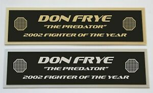 Don Frye UFC nameplate for signed autographed mma gloves photo or case