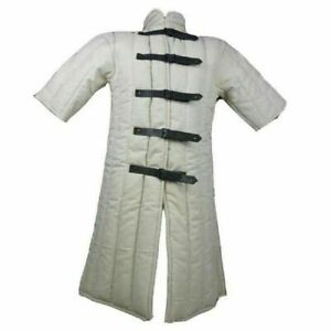 Medieval Renaissance | White Color | Gambeson | Half Sleeves | 100% Cotton | SCA
