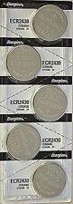 6 Pcs Energizer CR 2430 CR2430 ECR2430BP 3V Lithium Coin Cell Battery