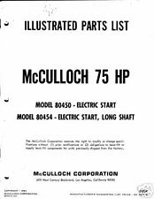 mcculloch outboard parts manual 75 hp