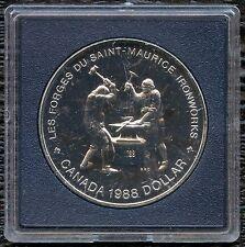 1988 Canada Uncirculated Silver Dollar Coin (23.3 Grams .500 Silver)