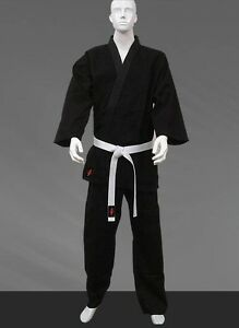 KANKU New Karate Uniform 12 oz Heavy Weight Black and White Martial ARTS
