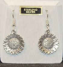 Sterling Silver Sun Flower Wire Earrings  (3255)