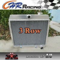 64MM 3ROW FORD For Chevy BEL AIR V8 1955-1957 55 56 57 Aluminum Alloy Radiator