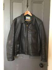 VINTAGE AERO Company Bandit de grand chemin en cuir noir perfecto veste