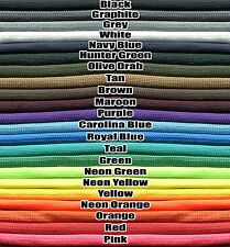 550 Pound Paracord Parachute Cord 7 Strand Nylon US Made 35 Colors and Camo