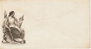 "Civil War Patriotic Postal Cover 1860s ""Liberty-Sitting"" w/Staff,spear with Cap"