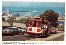 Vtg 1960's San Francisco California Cable Care On Hyde St. Photo Postcard