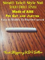 Strat® Tele® Style ABS Guitar Nut.  Pre-Cut Slotted. Fast Ship USA!