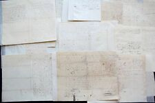 1845 to 1855 South Carolina 14 Manuscript Land Contracts signed