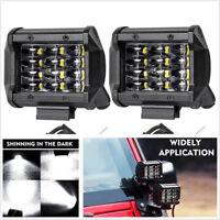 2pcs 72W IP68 LED Work Light Bar Flood Spot Offroad Truck Fog Driving SUV Boat