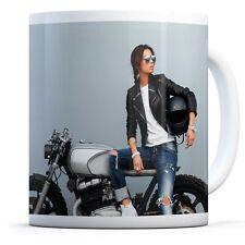 Stunning Rider Girl Bike Drinks Mug Cup Kitchen Birthday Office Fun Gift #16590