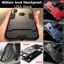 iPhone 6 7 8 X Shockproof Hybrid Armor Kickstand Rubber Holder Hard Case Cover