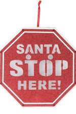 Christmas Lighted Window Decoration Santa Stop Here Holiday Office Fast Shipping
