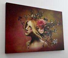 3D Model Blumen Kunst Leinwand Bild Wandbild Kunstdruck L1243