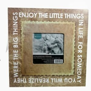 Target Home Scrap Book Frame 11in x 11in One Opening For Picture Beige & White