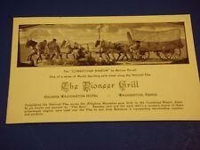 Pioneer Grill Conestoga Wagon George Washington Hotel PA Vintage Postcard PC6
