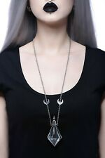 KillStar Potion Vial Necklace NEW Glass Witch Mystic Moon Gypsy Long Goth Death