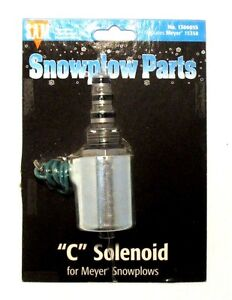 """""""C"""" Solenoid coil and valve, Snow Plow, Meyer 15358, part #1306055"""