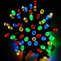 Solar Powered Fairy Lights 17M 100 LED Garden Outdoor Auto On-OFF 3 Mode Wedding
