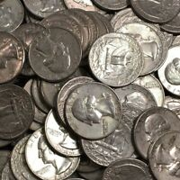 90% SILVER 1960 to 1964 WASHINGTON QUARTERS LOT MIXED DATES  BUY ALL or 1