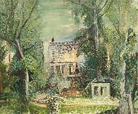 Pointillist Brigitte Tietze Potsdam Schloss Babelsberg #5 50 x 60 cm Brandenburg