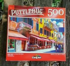 500 PIECE PUZZLEBUG JIGSAW PUZZLE - QUAINT CAFE IN VENICE (brand new & sealed)