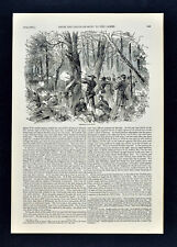 Harper Civil War Print Skirmishing in the Woods along the Chickahominy Virginia