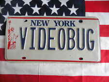 US NEW YORK VIDEOBUG Auto Car KENNZEICHEN NUMMERNSCHILD LIBERTY Plate Deko USA I