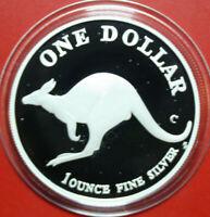 "Australien: 1 Unze ""Kangaroo"" 1998-C, 1 Dollar Silber  #F3451 PP-Proof"