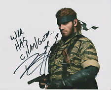 DAVID HAYTER Metal Gear Solid Voice of Snake SIGNED 8X10 Photo PROOF b