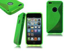 Fundas y carcasas Apple color principal verde de silicona/goma para teléfonos móviles y PDAs