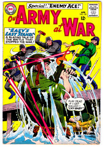 OUR ARMY AT WAR #153 in FN/VF grade 1965 DC WAR comic 2nd App of ENEMY ACE