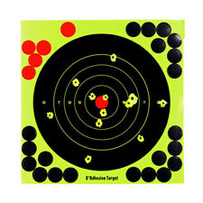 "5 Pcs Shooting Targets Reactive Splatter 8"" Paper Adhesive Gun Shoot Rifle Home"