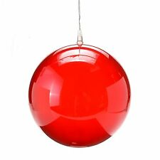 """8"""" Red LED Holographic Globe: Battery Operated: Garden Light, Christmas Ball"""