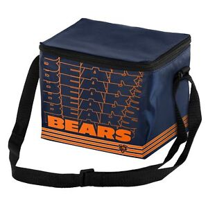 Chicago Bears NFL 6 pack Cooler Lunch Box Bag Insulated