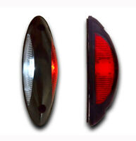 2 12V 24V VERTICAL RED WHITE LED SIDE MARKER LIGHTS OUTLINE LAMP TRUCK LORRY VAN