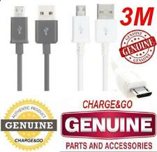 3 Metre Samsung Galaxy Note 4 S4 S7 S6 Micro USB Charger Cable & Data cable 3M