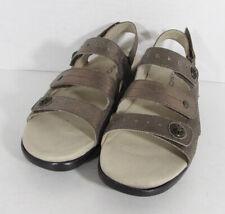 Aravon Womens PC Three Strap Sandal Shoes, Metallic Taupe, US 7 Narrow