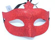 Men Ladies Red Glitter Venetian Masquerade Party Prom Carnival Eye Mask