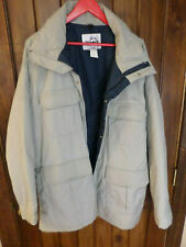 Woolrich gray with navy blue lining winter parka. Men's XL