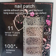 16 Silver Nail Patch Foils with Silver Circle Design