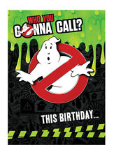Ghostbusters Official Birthday Sound/Talking Card FREE 1ST CLASS POSTAGE SC200