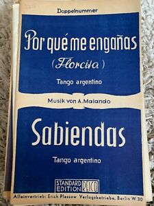 Noten Salonorchester Por qué me enganas / Sabiendas - Tango argentino v. Malando