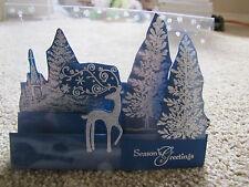 Winter Scenic Scene Christmas Handmade step Card Kit 4 stampin up