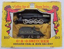 ARISTO-CRAFT JAPAN HO SCALE DIE-CAST ASHLAND COAL & IRON 0-8-0 STEAM LOCO-1960's