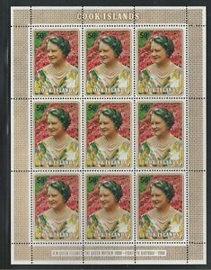COOK ISLANDS # 554 MNH THE QUEEN MOTHER'S 80TH BIRTHDAY Miniature Sheet