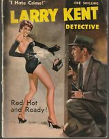 """Australian: Larry Kent Detective #91 """"Red Hot and Ready!"""" Cleveland 1950's"""
